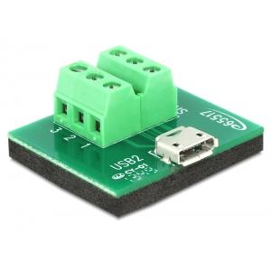 Micro USB (F) - Terminal Block 6pin