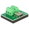 Mini USB (F) - Terminal Block 6pin