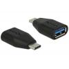 Üleminek USB-C (M) - USB 3.1 A (F), must (Gen2-10Gb)