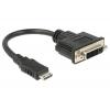 Üleminek Mini HDMI (M) - DVI (F) 1080p 0.2m