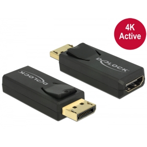 Üleminek Displayport (M) - HDMI (F), 4K@30Hz Active, must