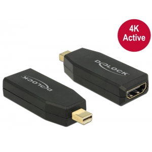 Üleminek Mini Displayport (M) - HDMI (F), 4K@30Hz Active, must