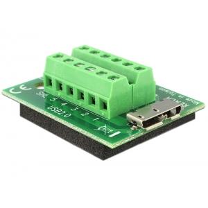 Micro USB 3.0 (F) - Terminal Block 12pin