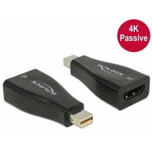Üleminek mini DisplayPort (M) - HDMI (F), 3840x2160@30Hz, 3D 1080p@120Hz, passive