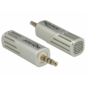 Mikrofon 3.5 mm 4pin, keeratav 90° nurga alla, tundlikkus  -38 dB +/- 3 dB, alumiiniumist, hõbedane