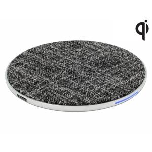 Juhtmevaba USB laadimisalus (Qi standard), 5 V / 1.0 A (5 W), 9 V / 1.1 A, riidest kattega