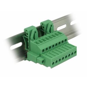 Terminal block R5.08mm, 8-ne, kruvilukustiga 24-12 AWG, DIN-liistule