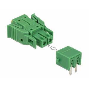 Terminal block PCB 2 pin 3.81mm, horisontaalne, -40°C-105°C