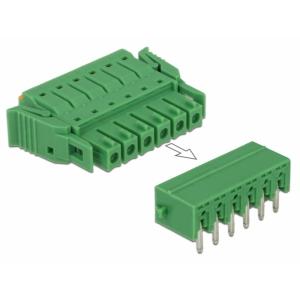 Terminal block PCB 6 pin 3.81mm, horisontaalne, -40°C-105°C