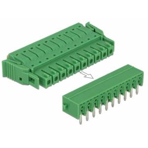 Terminal block PCB 10 pin 3.81mm, horisontaalne, -40°C-105°C