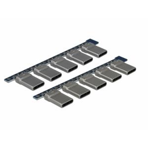 USB 2.0 Type-C pistik trükkplaadile, 10 tk´i