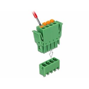 Terminal block PCB 4 pin 3.81mm, vertikaalne, -40°C-105°C