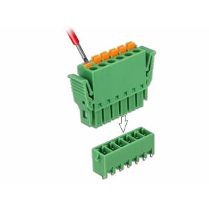 Terminal block PCB 6 pin 3.81mm,vertikaalne, -40°C-105°C