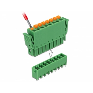 Terminal block PCB 8 pin 3.81mm, vertikaalne, -40�...