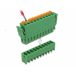 Terminal block PCB 10 pin 3.81mm, vertikaalne, -40°C-105°C