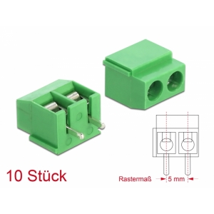 Terminal block PCB 2 pin 5.00mm, -40°C-105°C, jo...