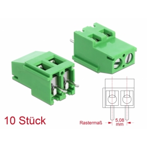 Terminal block PCB 2 pin 5.08mm, -40°C-105°C, jo...