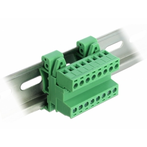Terminal block R5.08mm, 8-ne, 24-12 AWG, DIN-liistule, nurgaga