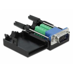 Üleminek VGA 15pin (M) - Terminal Block 10pin +kest