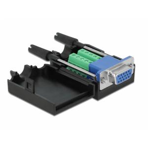 Üleminek VGA 15pin (F) - Terminal Block 10pin +kest
