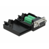 Konverter USB 3.1 C (M) - HDMI (F) 2160p, USB 3.0 + USB-C laadimine