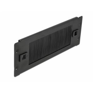 Kattepaneel 2U 10 tolli harjadega, tööriistavaba, must