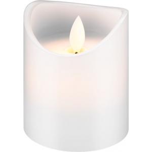 LED küünal, 7.5 x 10cm, valge