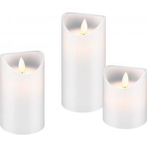 LED küünlad, komplektis 3 küünalt, valge