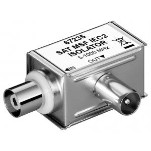 Antenni ja maanduse eraldaja, 5-1000MHz, koaksiaal pistik > koaksiaal pesa, analoog