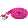 USB 2.0 kaabel A - Micro B 2.0m, lame, roosa-kirju