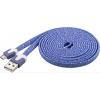 USB 2.0 kaabel A - Micro B 2.0m, lame, lilla-kirju