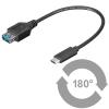 Üleminek USB 3.1 C - USB 3.0 A 0.2m, OTG (Gen1-5Gbs)