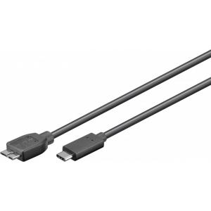 USB 3.0 micro B - USB-C 0.6m, must