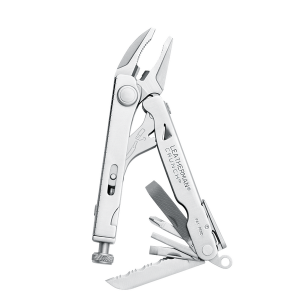 Multitööriist Leatherman CRUNCH, 15 tööriista, hõbe, nahkvutlar
