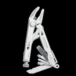 Multitööriist Leatherman CRUNCH, 15 tööriista, hõbe, must nailonvutlar M
