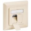 CAT 6 wall plate flush mounting, beige, 2xRJ45 shi...