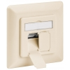 CAT 6a wall plate flush mounting, beige, 2x RJ45 s...