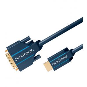 HDMI - DVI-D kaabel 3.0m, kullatud, OFC, topeltvarjega, 1080p
