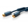 SAT Antennikaabel pistik - pistik 1.0m, kullatud, OFC, topeltvarjega