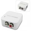 Konverter Toslink/ digital koaksiaal > 2xRCA (analood audio), 5V toiteplokk kaasas