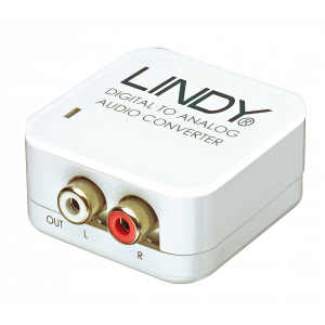 Konverter Toslink/ digital koaksiaal - 2xRCA (analood audio), 5V toiteplokk kaasas