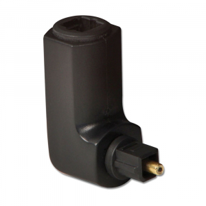 Adapter Toslink (F) - (M), nurgaga paremale, 360kraadi adapter