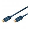 DisplayPort kaabel 7.5m, kullatud, OFC, topeltvarjega, 1600p, tumesinine