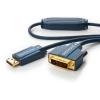 Displayport - DVI-D kaabel 1.0m, kullatud, OFC, topeltvarjega (sign suund DP > DVI-D), tumesinine