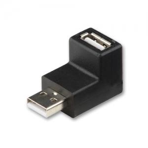 Adapter USB 2.0 A (F) - A (M) nurgaga üles