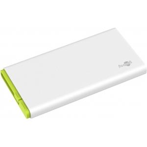 Akupank: 2xUSB 2.0A, 10000mAh Li-Po, integreeritud micro-USB kaabliga (laeb kuni 5 nutitelefoni)