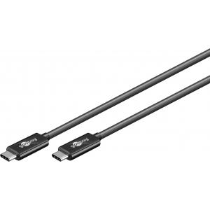 USB-C kaabel 1.0m, USB 3.1, 10 Gbit/s, 3A, must