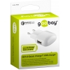 USB laadija 100-240V > 5V 2A, 1 USB port (QC 3.0 kiirlaadija - Qualcomm / Snapdragon), valge