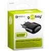 USB laadija 100-240V > 5V 2A, 1 USB port (QC 3.0 kiirlaadija - Qualcomm / Snapdragon), must