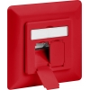 CAT 6a wall plate flush mounting, red, 2x RJ45 shi...